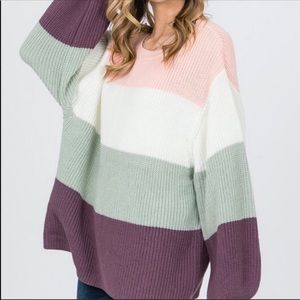 *coming soon* oversize color block sweater